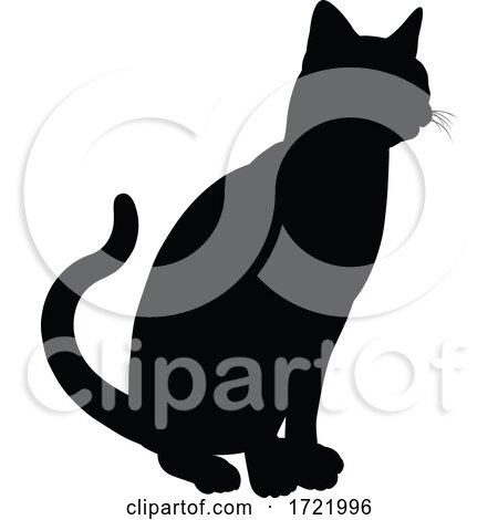 Silhouette Cat Pet Animal by AtStockIllustration