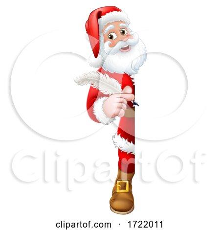 Santa Claus Christmas List Cartoon by AtStockIllustration