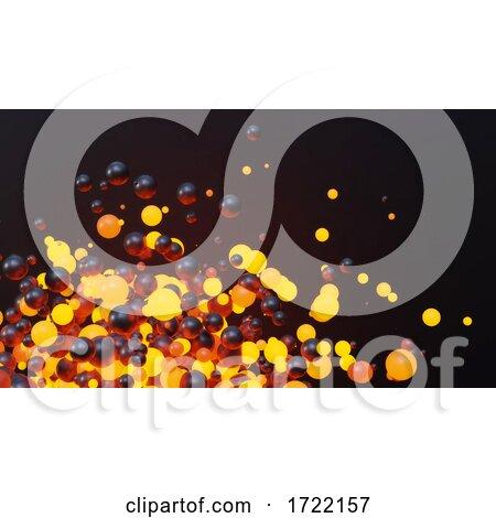 3d Fiery Molten Orange Spheres in a Cloud of Heat by Steve Young