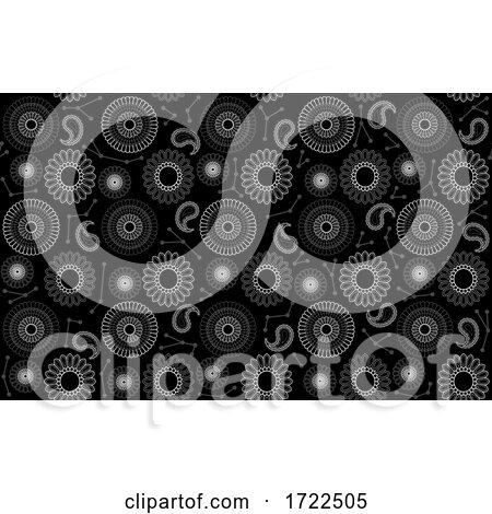 Black Seamless Background by dero