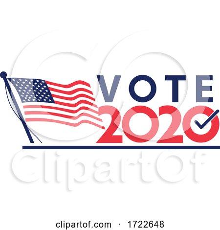Vote 2020 American Election Retro by patrimonio