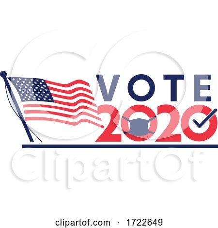 Vote 2020 American Pandemic Election Retro by patrimonio