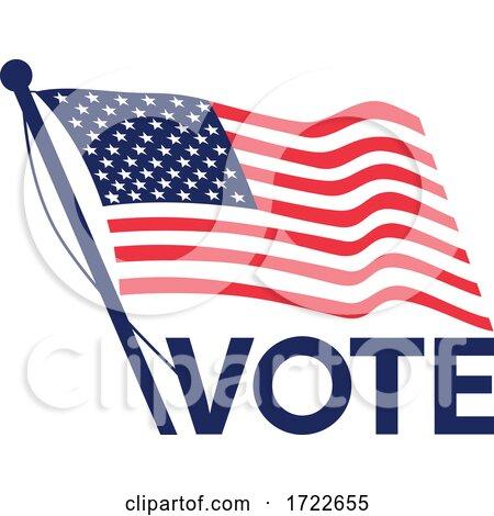 Vote American Election Flag Retro by patrimonio
