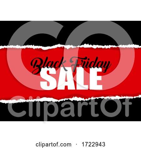 Black Friday Sale Design with Torn Paper Effect by KJ Pargeter