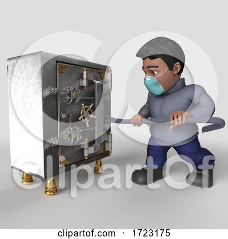 3D Hispanic Man Wearing a Mask on a Shaded Background Posters, Art Prints