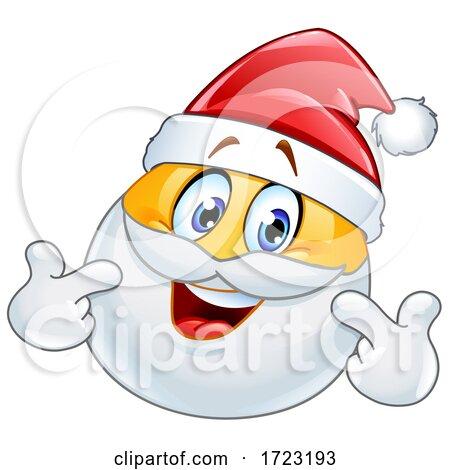 Santa Claus Emoji Pointing at Himself Posters, Art Prints
