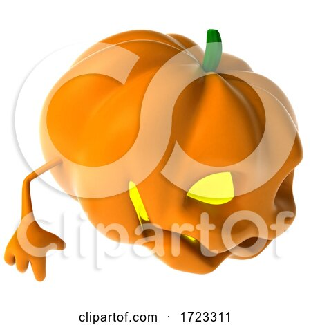 3d Jackolantern on a White Background by Julos