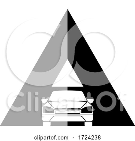 Grayscale Car Letter a Logo by Lal Perera