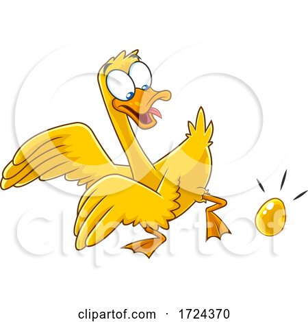 Golden Goose Laying an Egg by Hit Toon