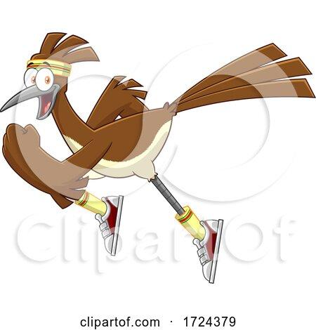 Sprinting Roadrunner Bird by Hit Toon