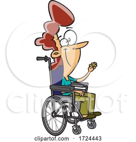 Cartoon Female Teacher in a Wheelchair Posters, Art Prints