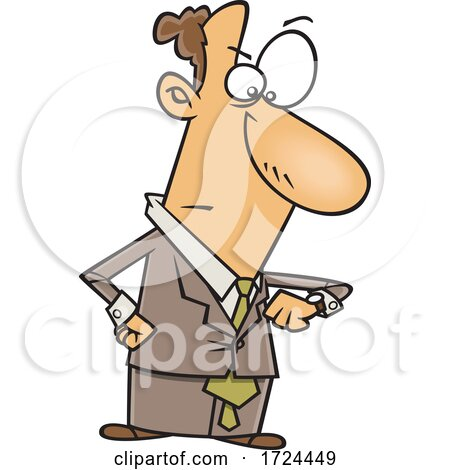Cartoon Business Man Looking Angry and Checking His Watch by toonaday