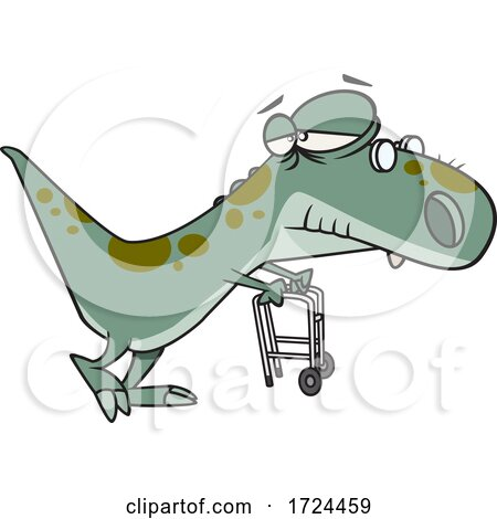 Cartoon Old Grandpa Saurus by toonaday