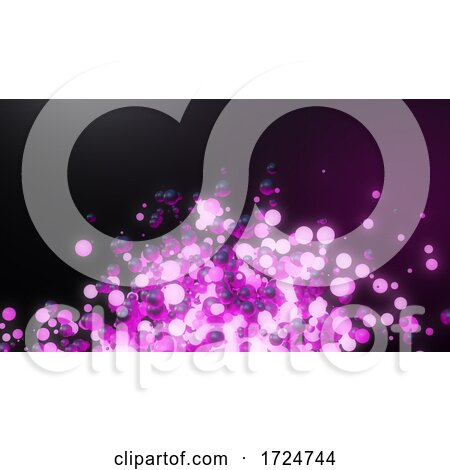 3d Purple and Pink Glowing Ball Explosion of Spheres by Steve Young