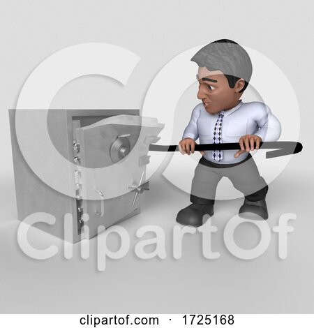 3d Hispanic Business Man, on a Shaded Background Posters, Art Prints