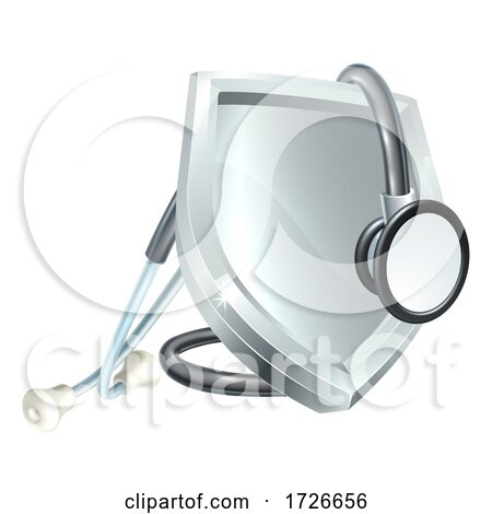 Shield Stethoscope Medical Health Icon Concept by AtStockIllustration