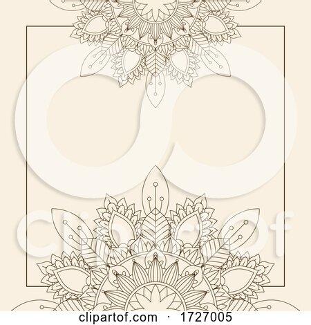Decorative Background with Floral Mandala Design by KJ Pargeter