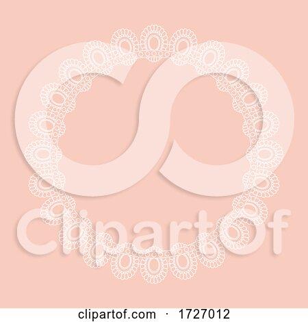 Lace Style Circular Border Design Posters, Art Prints