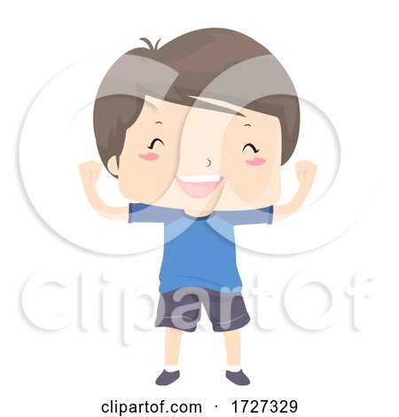 Kid Boy Adjective Able Strong Happy Illustration Posters, Art Prints