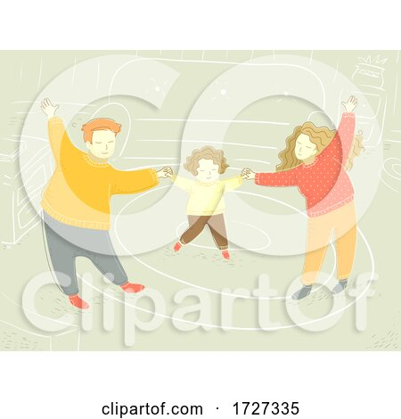 Family Happy Sweater Home Living Room Illustration Posters, Art Prints