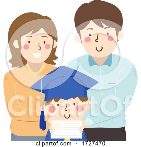 Kid Parents Graduation Certificate Illustration by BNP Design Studio
