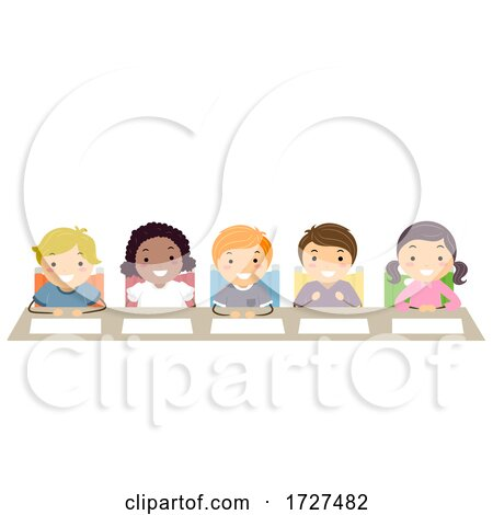 Stickman Kids Panel Table Judges Illustration by BNP Design Studio