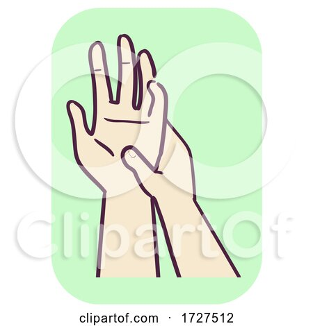 Musculoskeletal Hand Palm Massage Illustration Posters, Art Prints