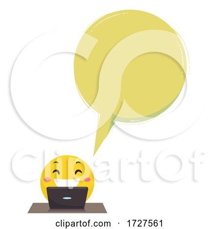 Smiley Funny Vlogger Speech Bubble Illustration Posters, Art Prints