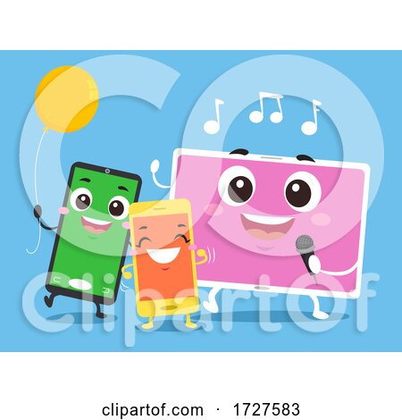 Mascot Mobile Party Games Illustration Posters, Art Prints