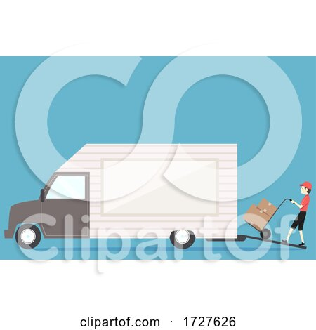 Man Loading Boxes Truck Illustration by BNP Design Studio