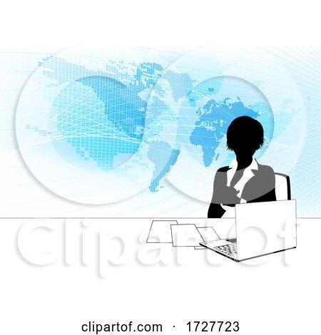 News Anchor Silhouette TV Reporter Presenter by AtStockIllustration