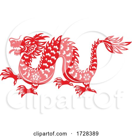 Chinese Horoscope Zodiac Dragon by Vector Tradition SM