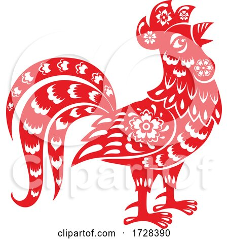 Chinese Horoscope Zodiac Rooster by Vector Tradition SM