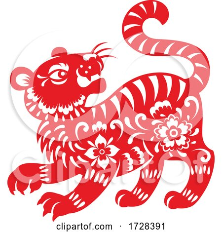 Chinese Horoscope Zodiac Tiger by Vector Tradition SM