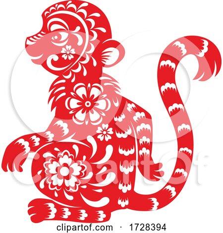 Chinese Horoscope Zodiac Monkey by Vector Tradition SM