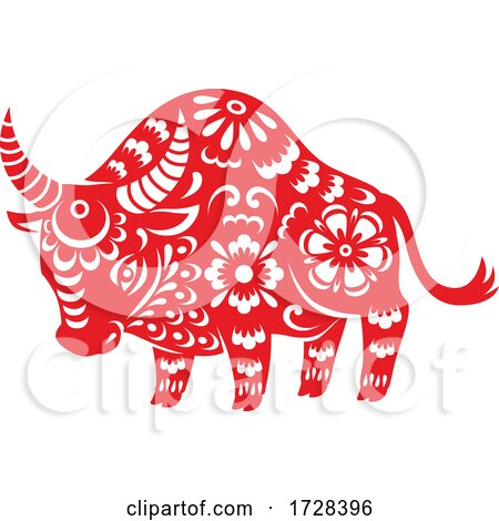 Chinese Horoscope Zodiac Bull by Vector Tradition SM