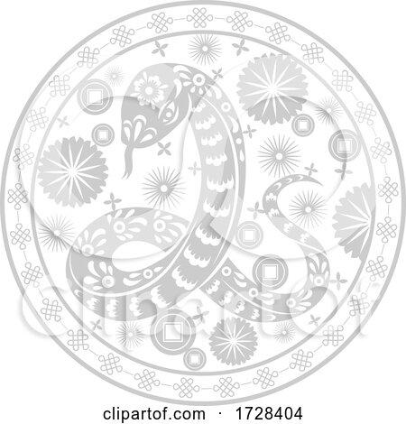 Chinese Horoscope Zodiac Snake by Vector Tradition SM