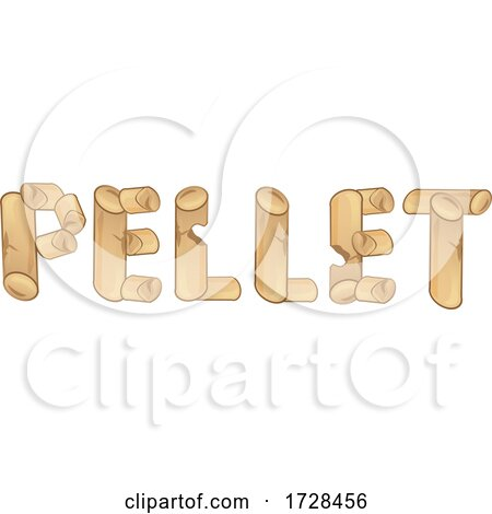 Heating Pellets Forming the Word by Domenico Condello