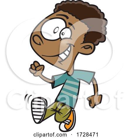 Cartoon Boy Strutting by toonaday