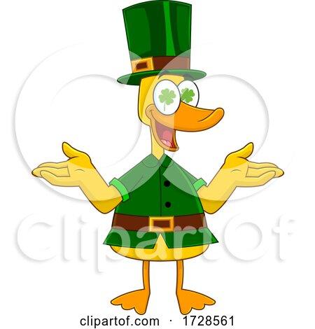 Lucky Duck Leprechaun by Hit Toon