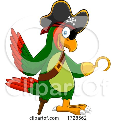 Pirate Parrot with Peg Leg and Hook by Hit Toon