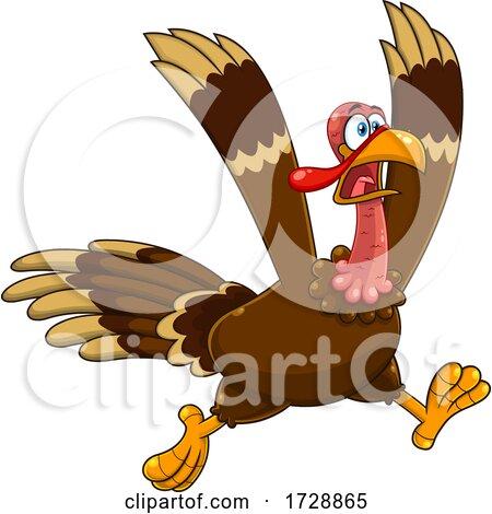Crazy Running Turkey Bird by Hit Toon