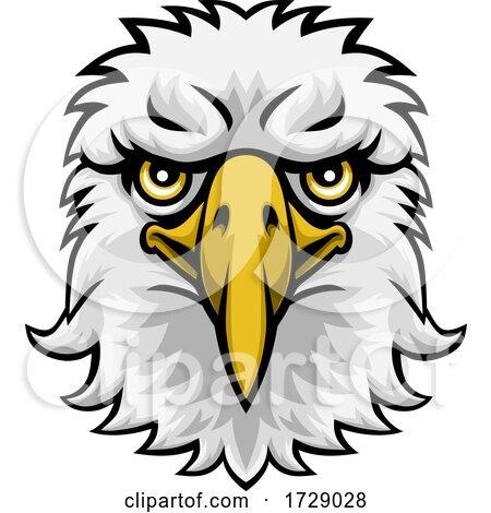 Eagle Mascot Cartoon Character by AtStockIllustration