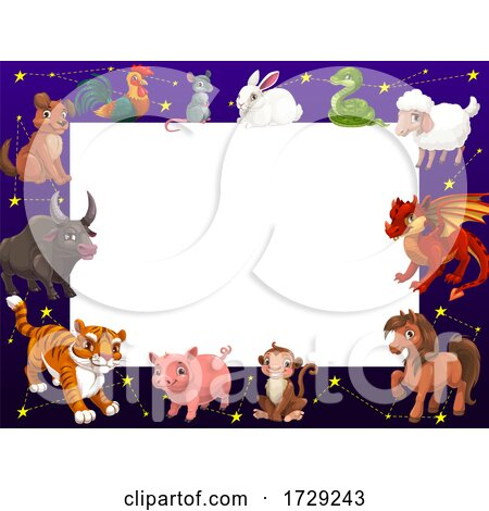 Chinese Zodiac Border by Vector Tradition SM