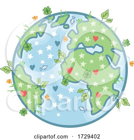 Beautiful Flourishing Earth by NL shop