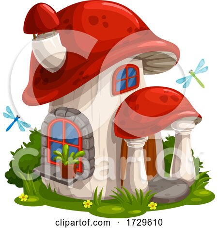 Mushroom Fairy House by Vector Tradition SM
