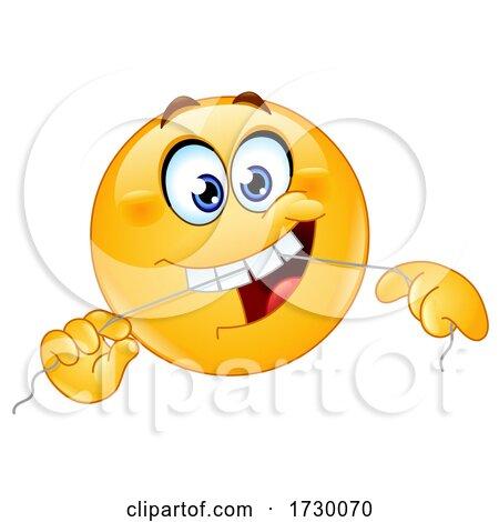 Emoji Smiley Face Flossing His Teeth by yayayoyo