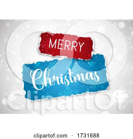 Christmas Background with Torn Paper Design by KJ Pargeter