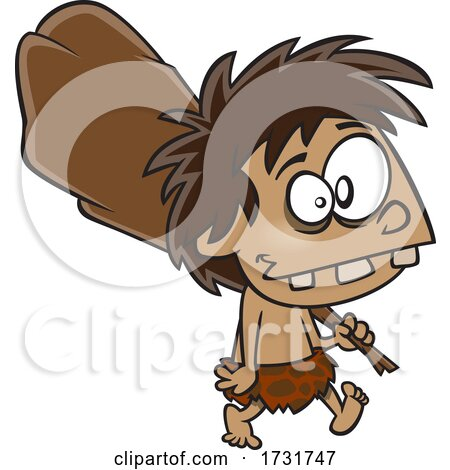 Cartoon Boy Caveman by toonaday