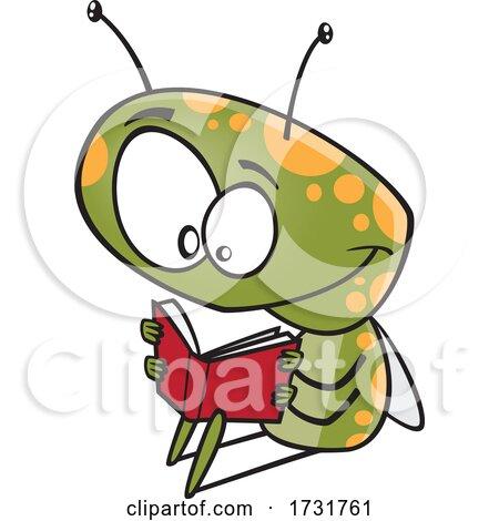 Cartoon Bug Reading a Book Posters, Art Prints